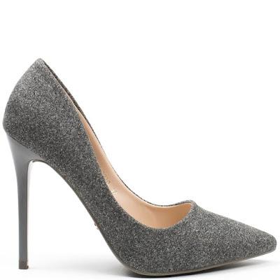 escarpins gris pas cher - chaussures pointues-talons aiguilles-tendance mode 2018