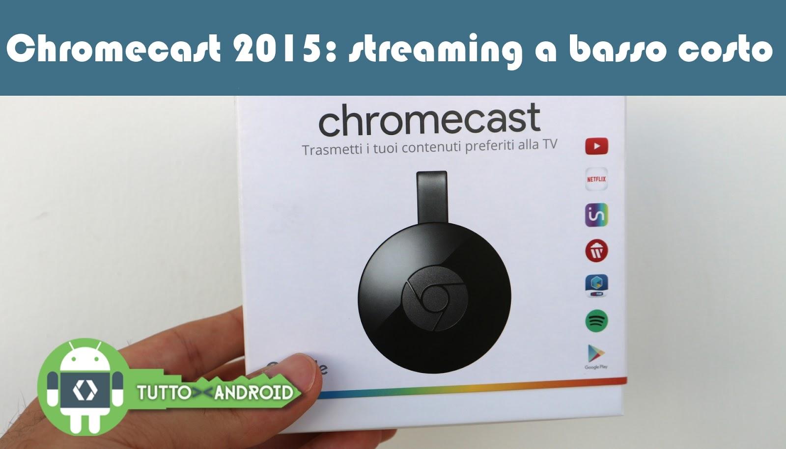 Chromecast costo