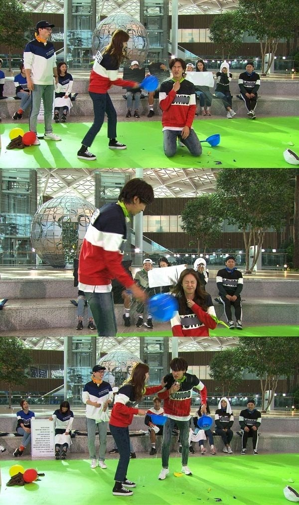 Lee Kwang Soo dan Jun So Min Adegan Perang Air