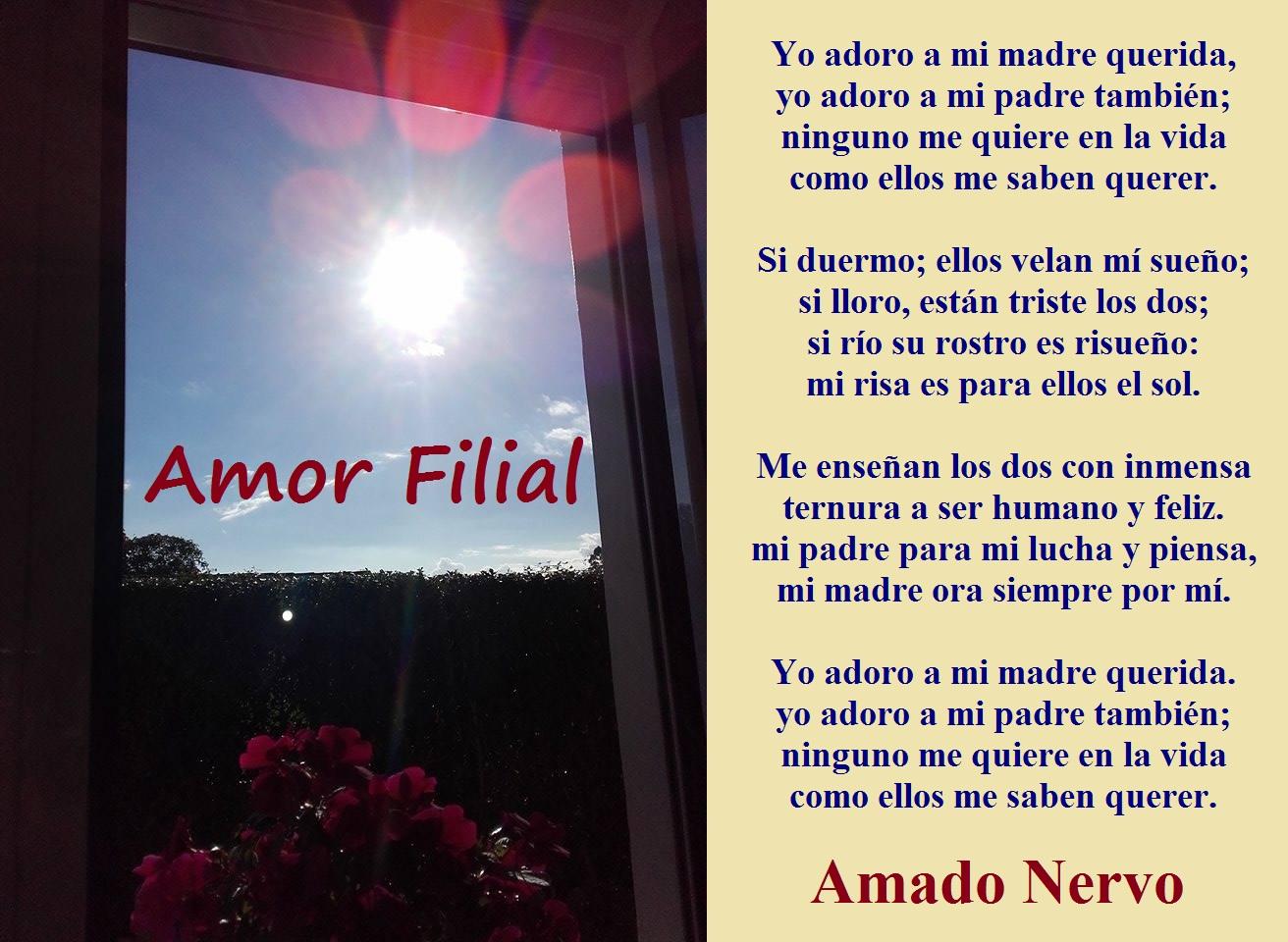 Lazos De Arte Y Amistad Poema Amor Filial Amado Nervo