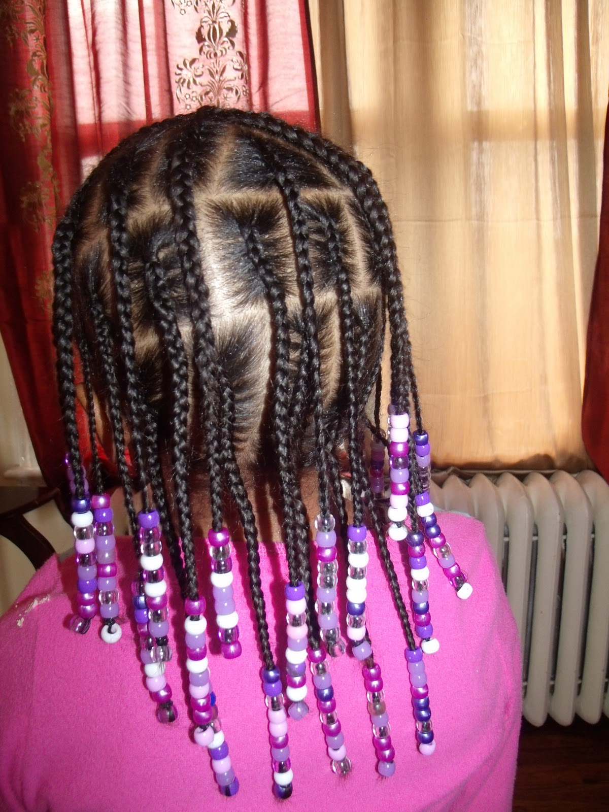 Freestyle Beaded Hairstylenot Sure I Like It
