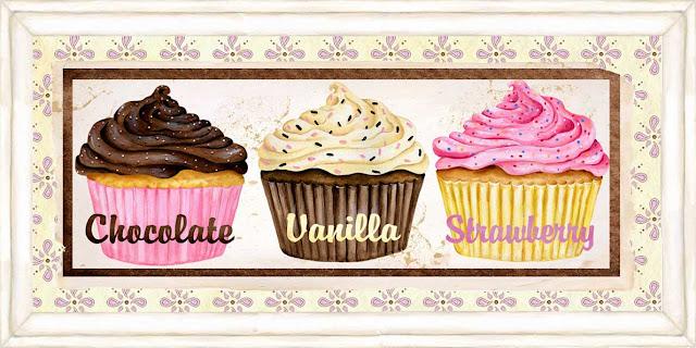 cupcake temalı dekupaj resimleri
