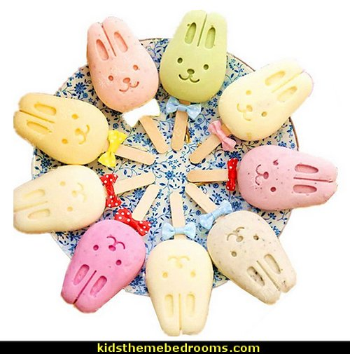Bunny Silicone Ice Pop Mold Ice Cream Bar Mold Popsicle Molds