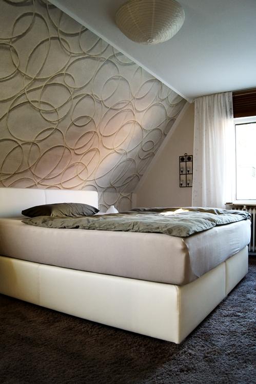 tapeten schlafzimmer dachschr ge. Black Bedroom Furniture Sets. Home Design Ideas