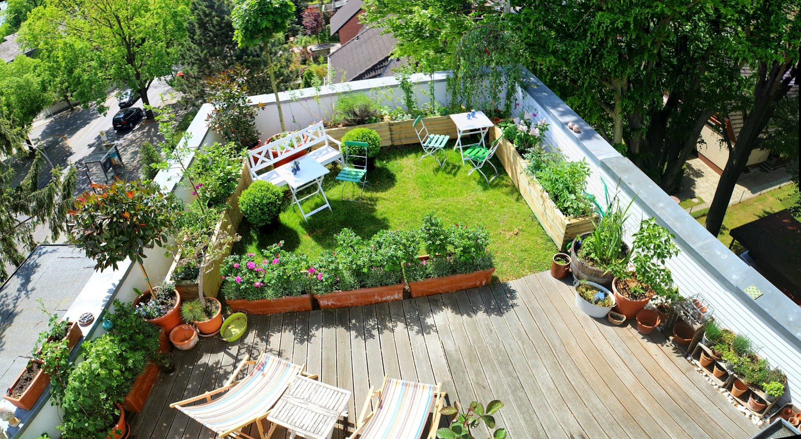 More than 80 pictures of beautiful houses with roof deck for Rooftop landscape design