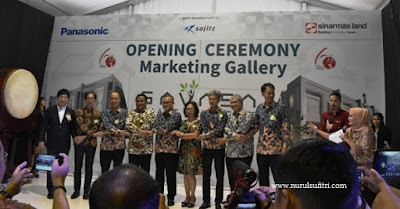 presiden direktur para komisaris dan jajaran mitra usaha salam opening ceremony marketing gallery savasa deltamas nurul sufitri blogger panasonic sinar mas land sojitz