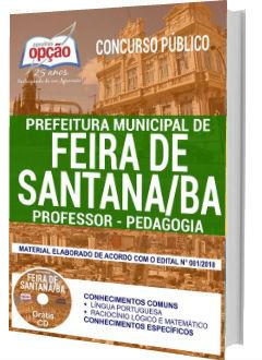 Apostila Concurso Prefeitura de Feira de Santana 2018 Professor de Pedagogia