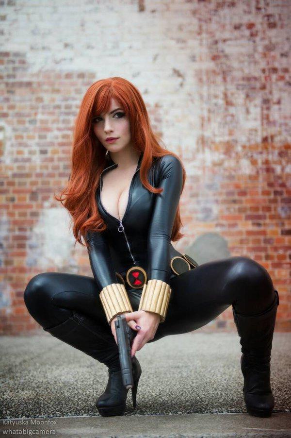 Sexy Cosplay Girl Black Widow Cosplay-3765
