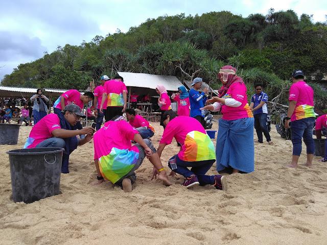 Seru-seruan di Pantai Sepanjang Bersama Yamaha