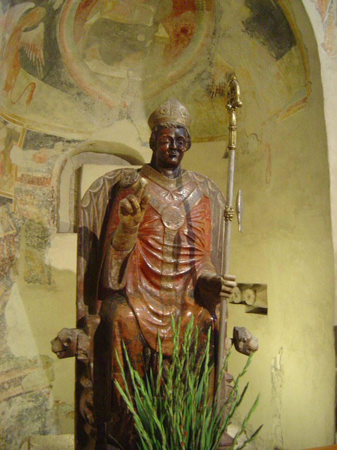 San Zeno himself - is that a smile on his face? Photo: WikiMedia.org.