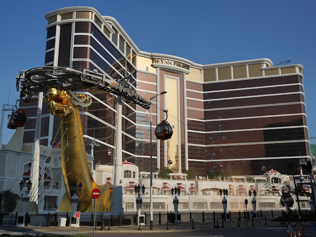 SkyCab in front of the Wynn Palace in Cotai, Macau