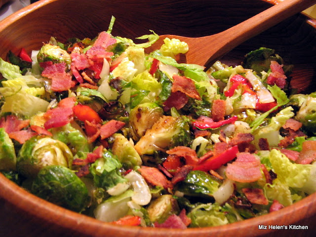Brussels Sprouts Salad With Warm Bacon Vinaigrette at Miz Helen's Country Cottage
