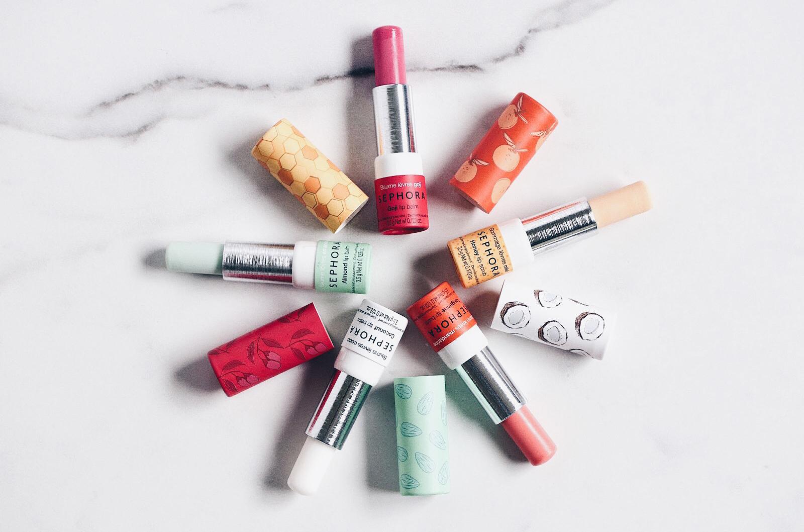 sephora baumes à lèvres teintés gommage lèvres au sucre avis test