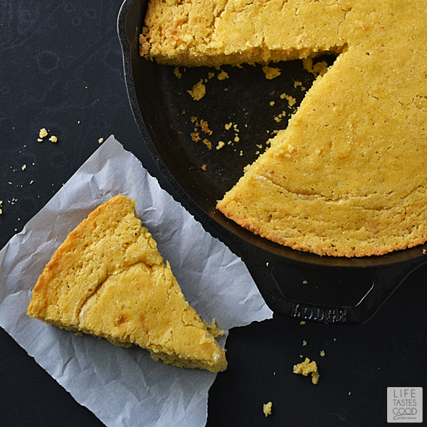 Skillet Cornbread Recipe | by Life Tastes Good