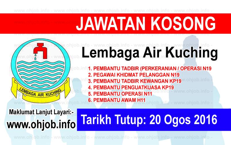 Jawatan Kerja Kosong Lembaga Air Kuching logo www.ohjob.info ogos 2016