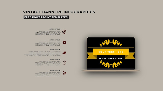 Vintage Banners Infographic Free PowerPoint Template Slide 16