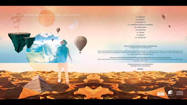 """Num estilo boombap bem classe, o rapper Paulo Microfonia lança o EP """"Mudanças, novidades, surpresas: possibilidades"""""""