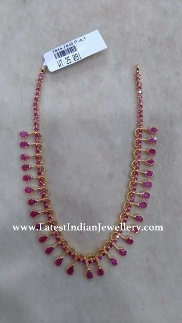Ruby Necklace in 20gms
