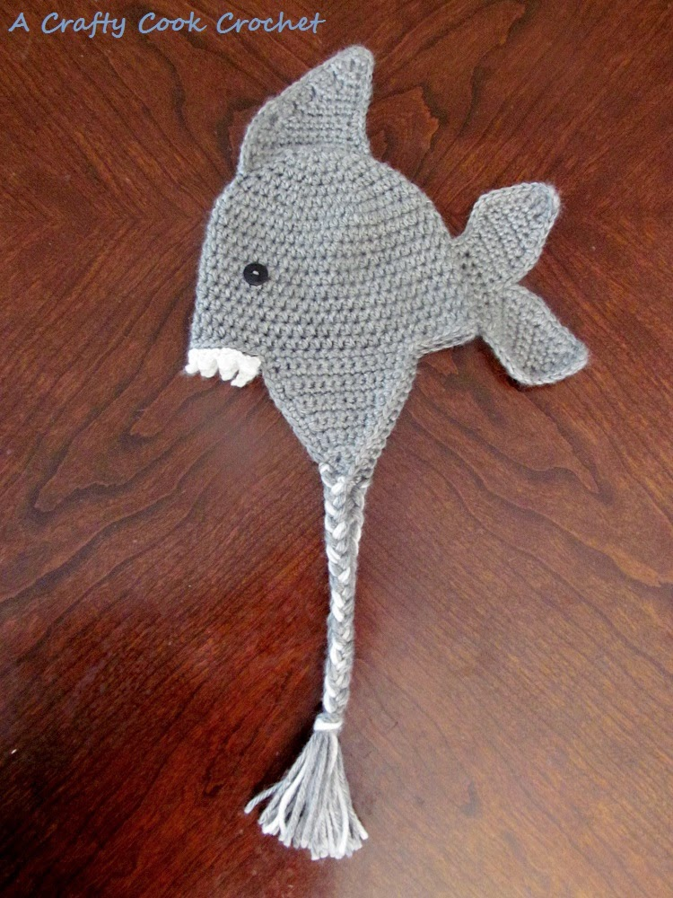 A Crafty Cook  Crochet Shark Hat and some other hats too b895e9f1d797
