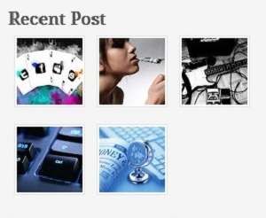 Gallery style recent posts widget for blogger
