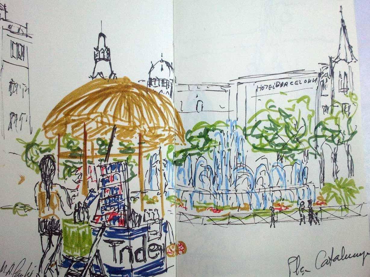 Concurso De Dibujo Urbano En Libreta Fnac Madrid: Ladrones De Cuadernos: DIBUJO URBANO