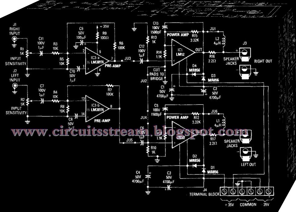 High-Power Car Audio Amplifier Circuit Diagram