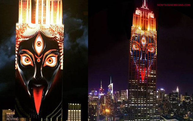 Demonic Faces on the Empire State Building