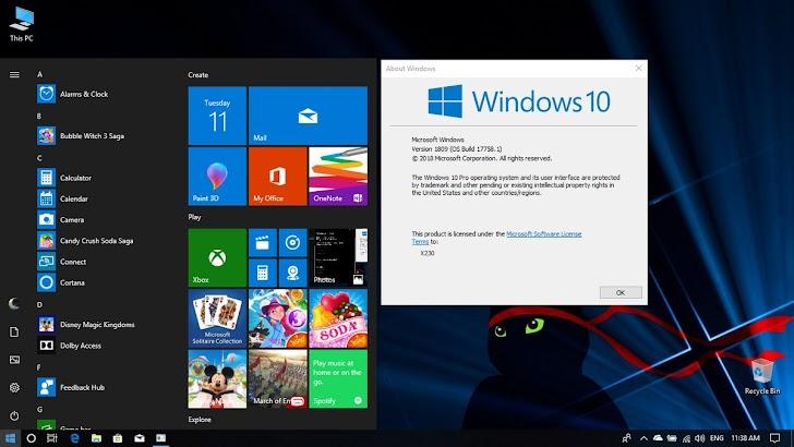 Feature Baru dan Perubahan Pada Windows 10 Version 1809