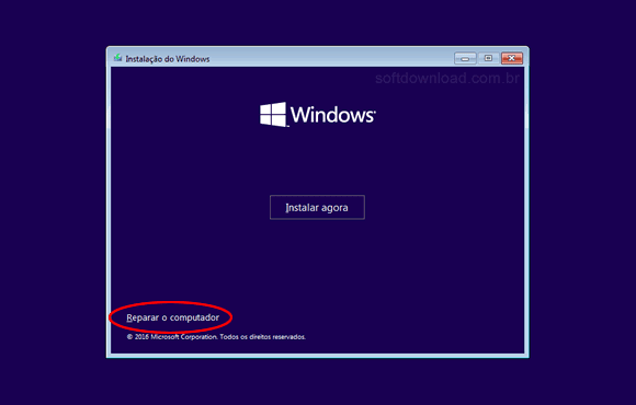 Reparar o windows 10