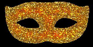 máscara carnaval dourada 2 png