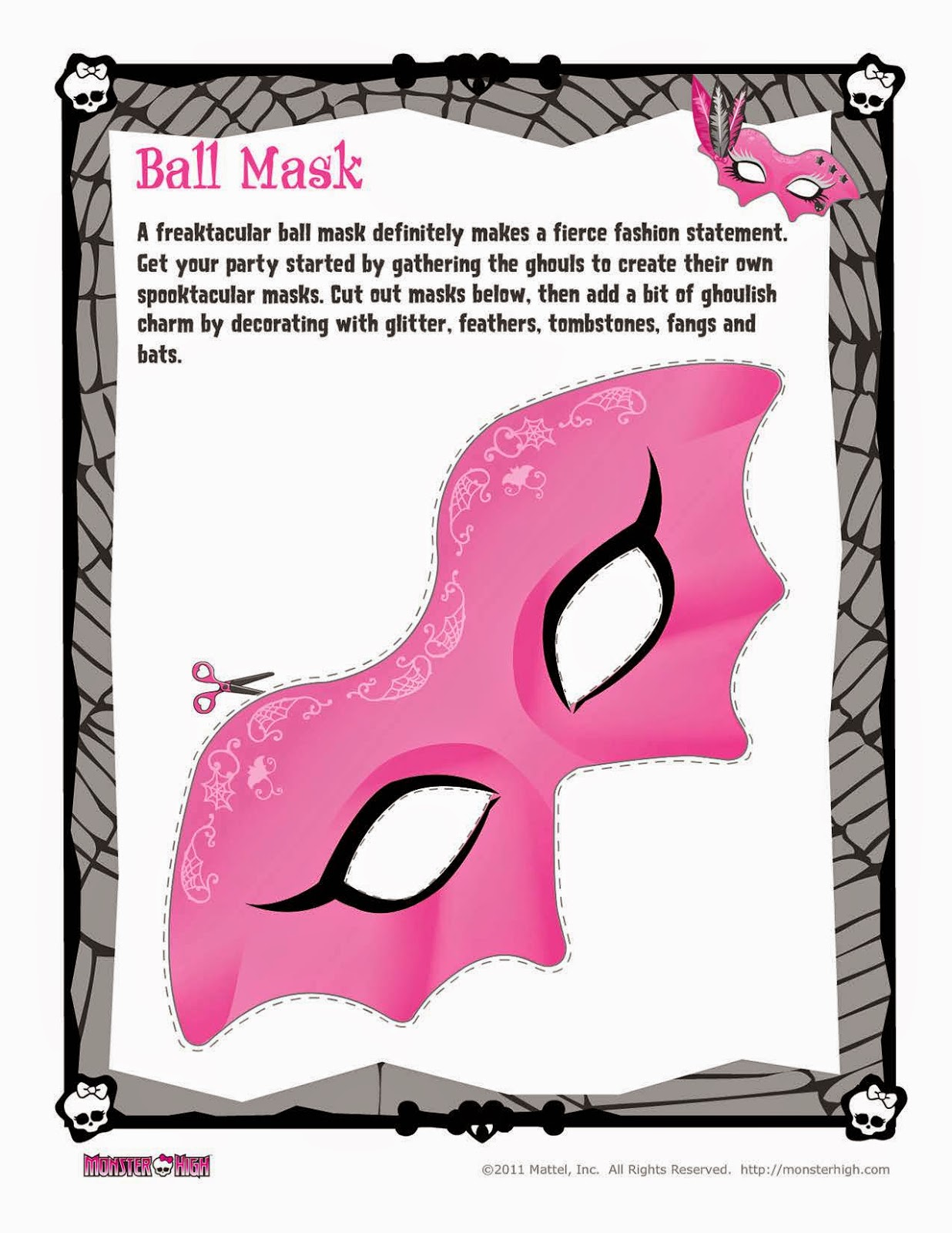 Best Quality Sheets On Amazon Monster High Free Printable Ball Mask Oh My Fiesta In