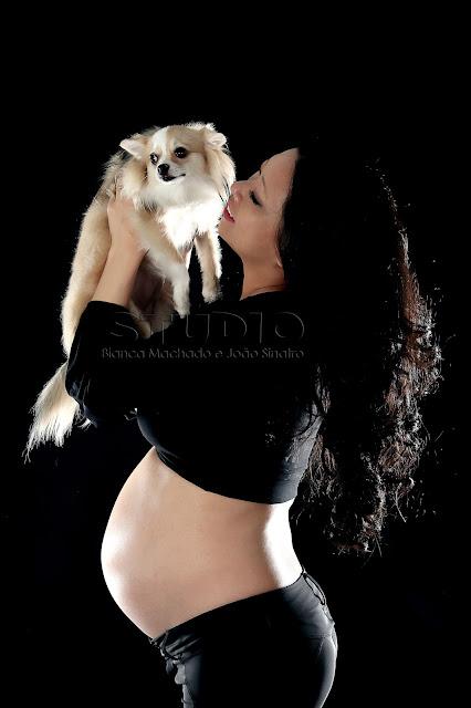 fotos para gravidas com cachorrinhos