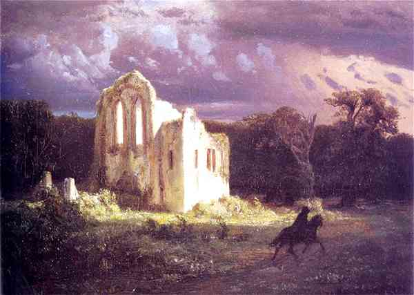 Ruins in The Moonlit - A. Bocklin (1849)
