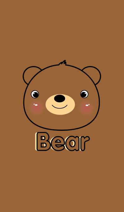 simple Cute Bear theme Vr.2(jp)