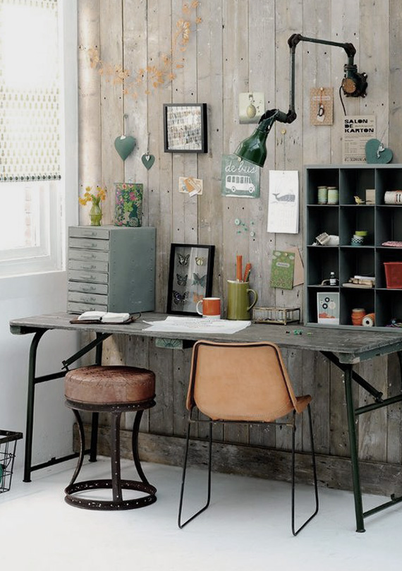 industrial style work space, zinc things