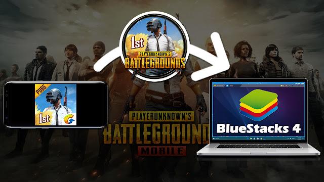 نسخ وتشغيل لعبة pubg من هاتف الاندرويد إلى محاكي الاندرويد Bluestacks 4
