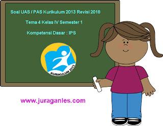 Contoh Soal UAS/ PAS K13 Kelas 4 Semester 1 Tema 4 Kompetensi Dasar IPS