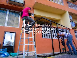 Warih-Homestay-ASC-Pasang-Cermin-Tinted-Frame