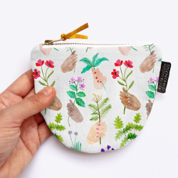 Floral Patterned Coin Purse