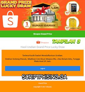 Demo 3 Script Phising Shopee Terbaru