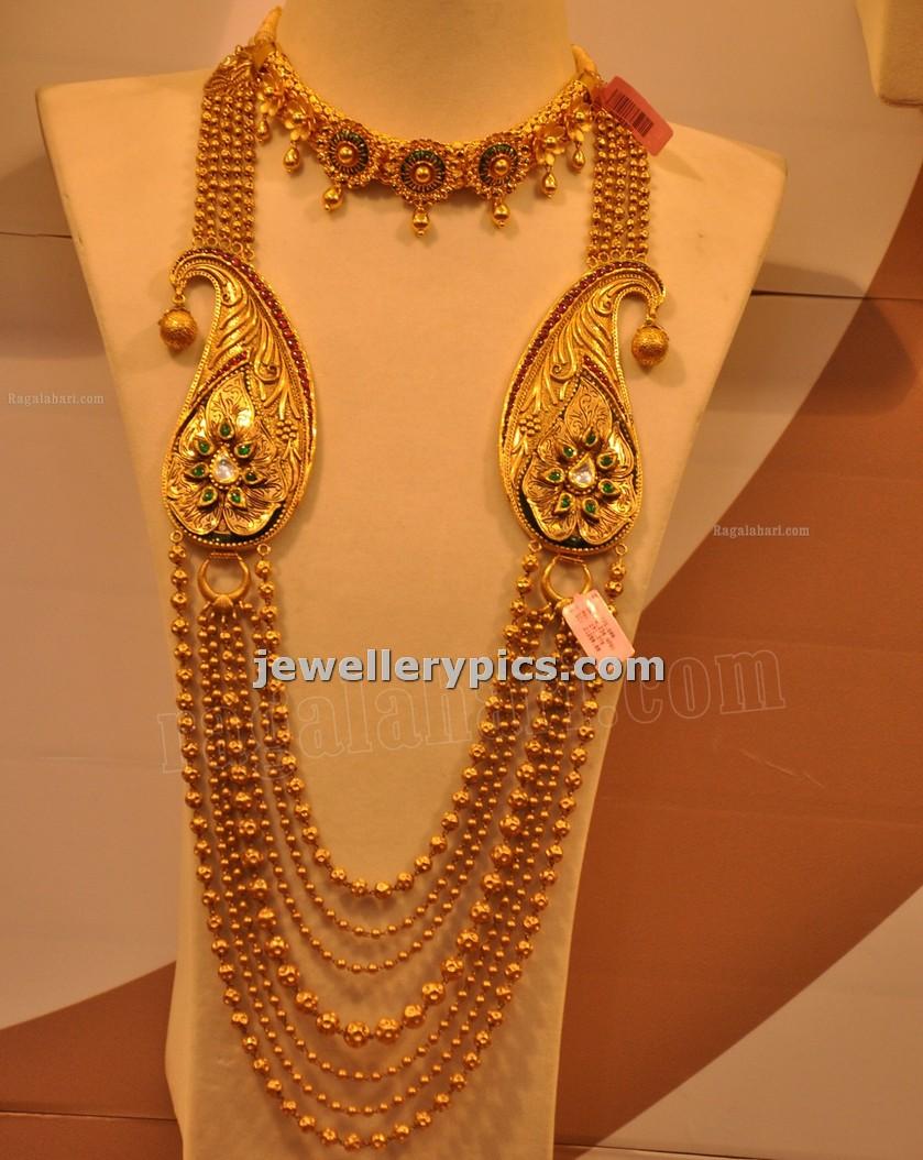 Malabar Gold Gundla Mala with 7 steps designs -Latest ...