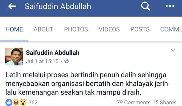 Ketua Setiausaha PH, Saifudin Abdullah Tidak Yakin PH Akan Mencapai Kemenangan PRU 14