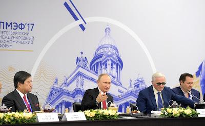 Vladimir Putin, heads of companies.