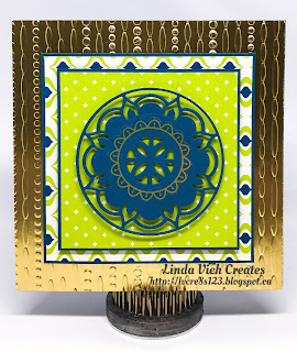 Linda Vich Creates: Eastern Palace Bundle With Numbered Thinlits. Card offers a sneak peek at the Eastern Palace Suite as well as one of the new In Colors, Lemon Lime Twist.