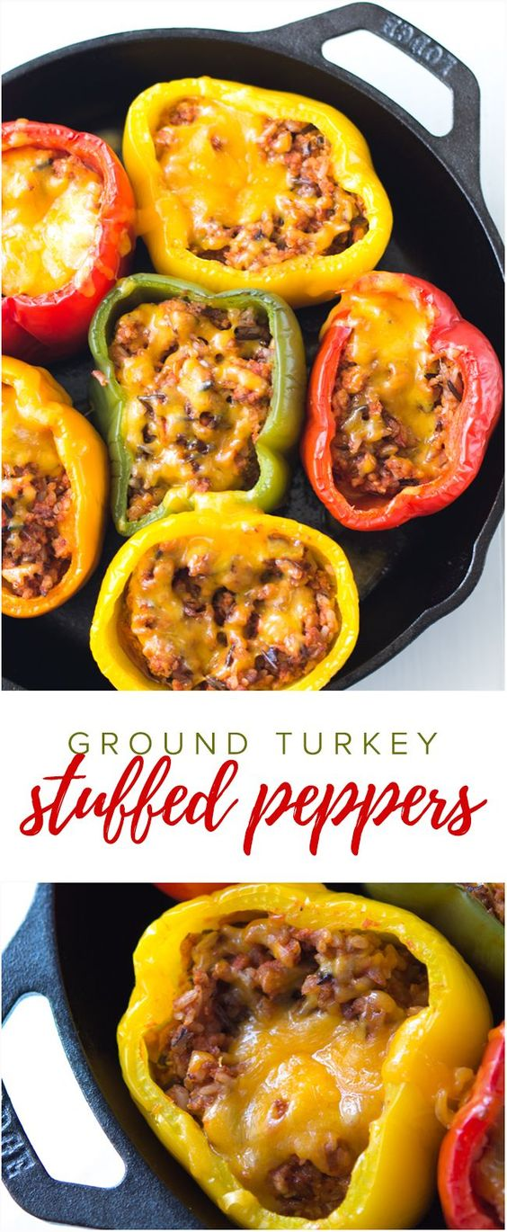 Ground Turkey Stuffed Peppers   #DESSERTS #HEALTHYFOOD #EASY_RECIPES #DINNER #LAUCH #DELICIOUS #EASY #HOLIDAYS #RECIPE #SPECIAL_DIET #WORLD_CUISINE #CAKE #GRILL #APPETIZERS #HEALTHY_RECIPES #DRINKS #COOKING_METHOD #ITALIAN_RECIPES #MEAT #VEGAN_RECIPES #COOKIES #PASTA #FRUIT #SALAD #SOUP_APPETIZERS #NON_ALCOHOLIC_DRINKS #MEAL_PLANNING #VEGETABLES #SOUP #PASTRY #CHOCOLATE #DAIRY #ALCOHOLIC_DRINKS #BULGUR_SALAD #BAKING #SNACKS #BEEF_RECIPES #MEAT_APPETIZERS #MEXICAN_RECIPES #BREAD #ASIAN_RECIPES #SEAFOOD_APPETIZERS #MUFFINS #BREAKFAST_AND_BRUNCH #CONDIMENTS #CUPCAKES #CHEESE #CHICKEN_RECIPES #PIE #COFFEE #NO_BAKE_DESSERTS #HEALTHY_SNACKS #SEAFOOD #GRAIN #LUNCHES_DINNERS #MEXICAN #QUICK_BREAD #LIQUOR