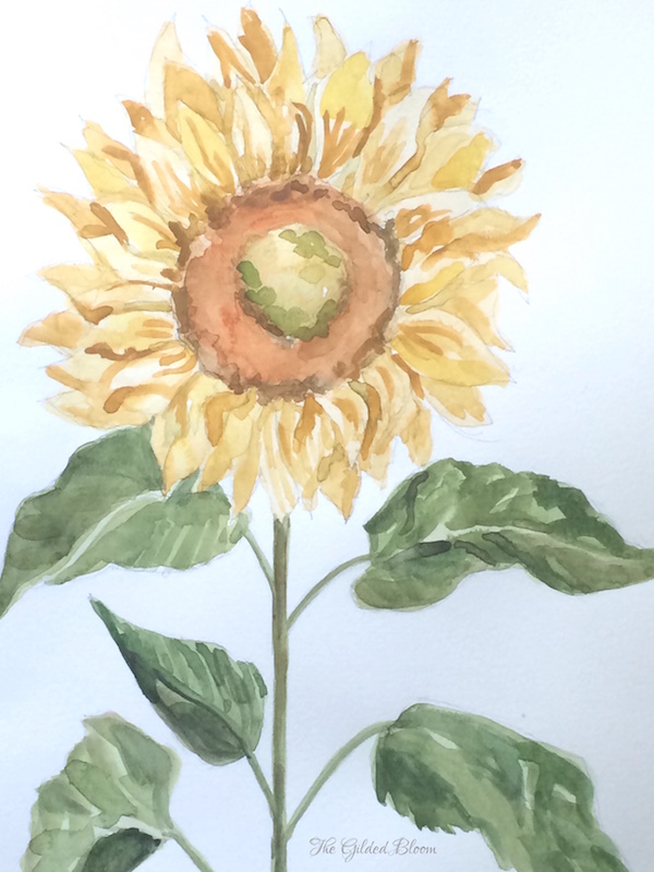 In the Studio:  Sunwashed Floral Watercolors- www.gildedbloom.com
