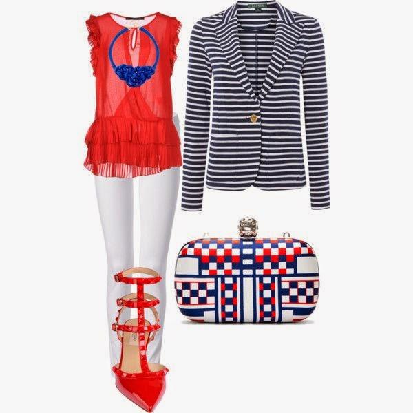 Outfit con inspiración navy