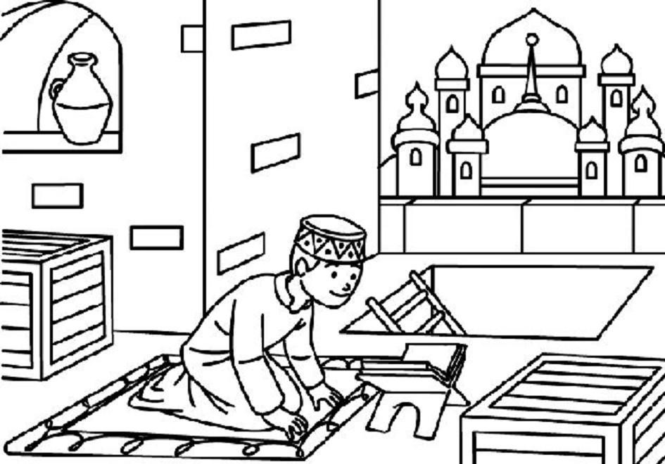 Contoh Gambar Untuk Mewarnai Anak Muslim Terbaru Gambarcoloring