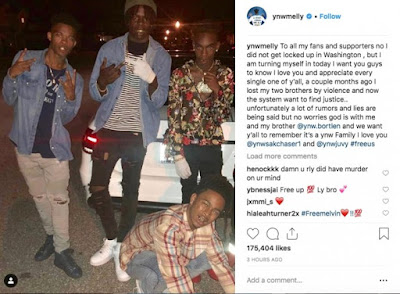 YNW Melly Arrested for Double Murder of YNW Juvy and YNW Sakchaser