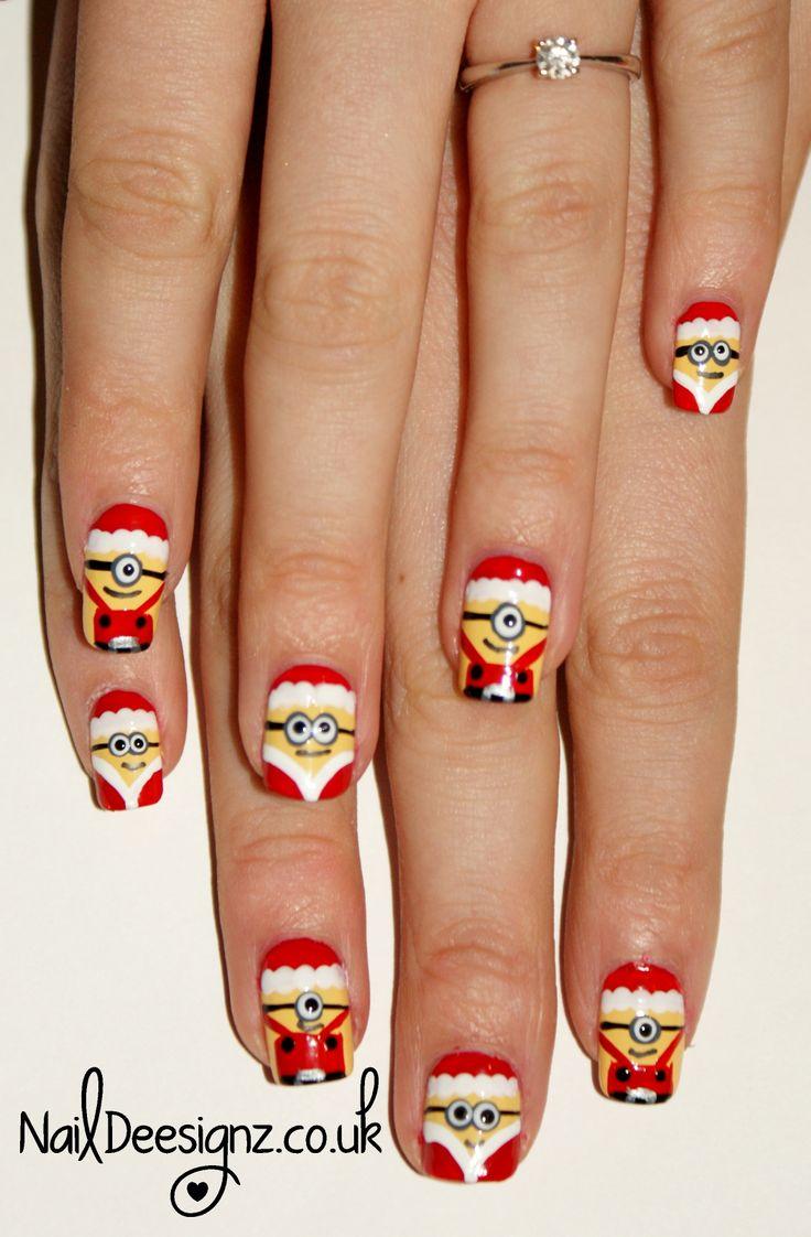 8 Diseños De Uñas Para Navidad Minions Navideños ε Diseños De